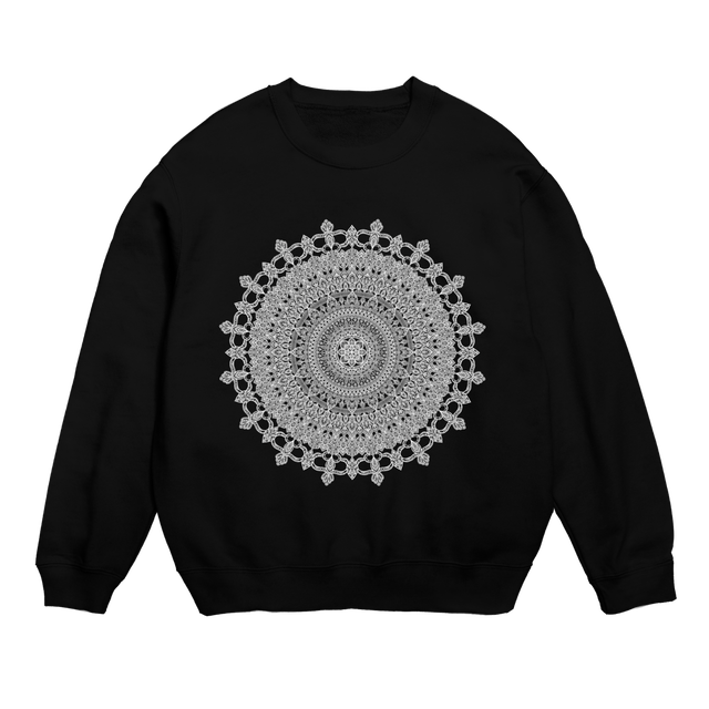 Mandala no.001 スウェットシャツ ブラック