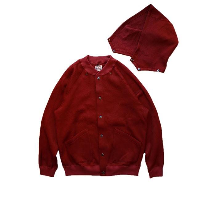 Stevenson Overall Co. Detachable Hooded Athletic Jacket - DA (Burgundy) [SO-DA]
