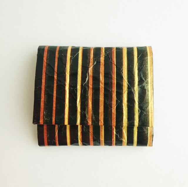 和紙のミニコインケース(赤丁子)