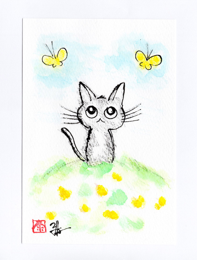 手描きポストカード②