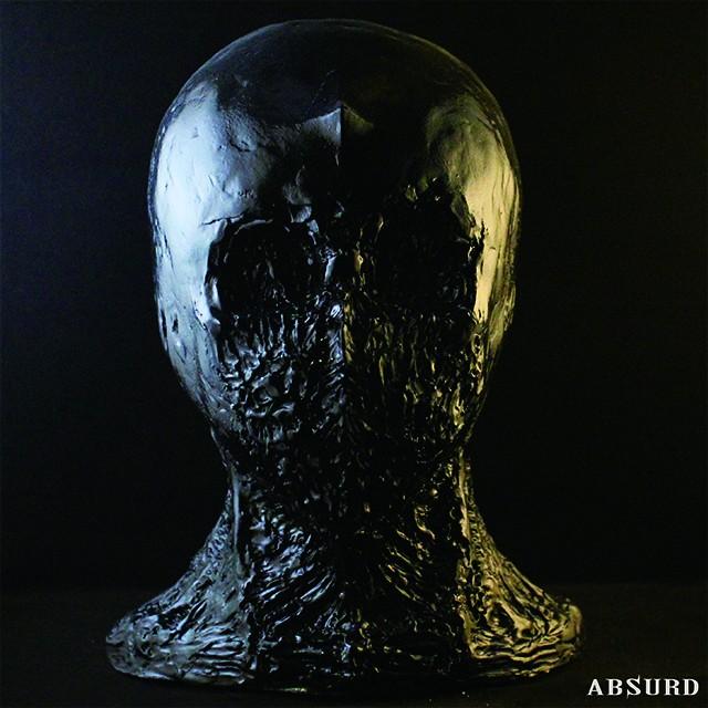 【1点物】【超限定】 ABSURD レア ヘッドフィギュア 石粉粘土 オリジナル 高さ28cm インテリア ホラー Oroshi San