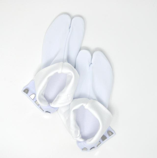 【送料無料】ハイストレッチ足袋 白 5枚コハゼ 日本製(4L)| 東レ ナイロン素材 フォーマル婚礼礼装対応品