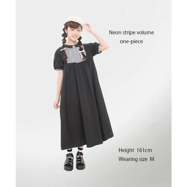【UNICA】211-0101 ネコバルーン袖ワンピース S(145-155㎝)