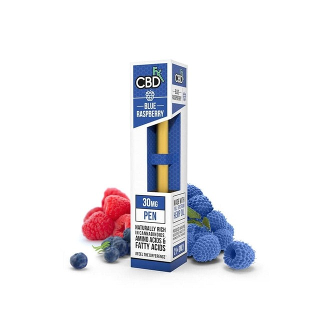 【送料無料】CBDfx - CBDリキッド使い捨てベイプペン30mg:ブルーラズベリー