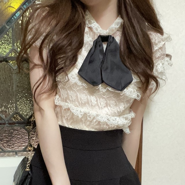 sheer lace tops + camisole set