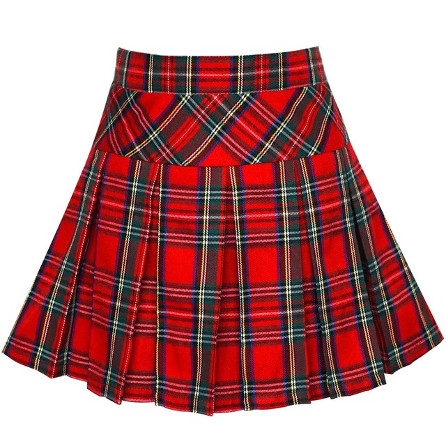 《school collection》Skirt Red Tartan (送料無料)