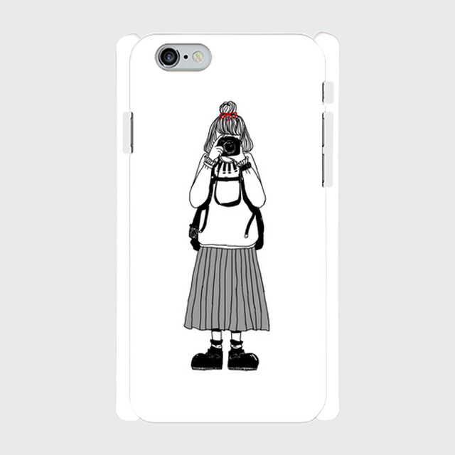 カメラ女子(灰)iPhone6/6s用