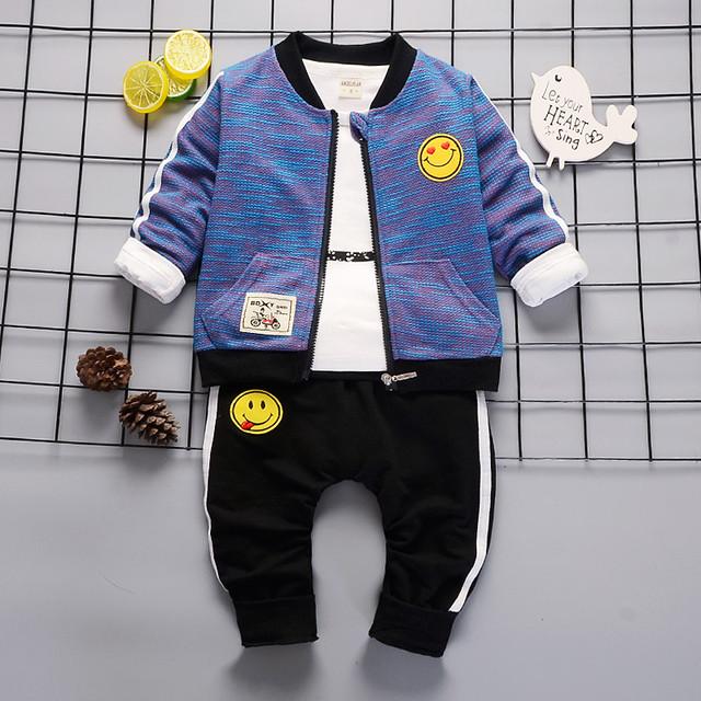 【セットアップ 】韓国カジュアルコットン子供服 男の子 セットアップ三点セット24835192