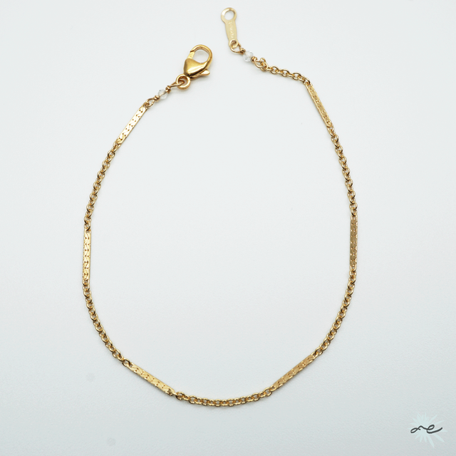 Simple Chain Bracelet/14KGF