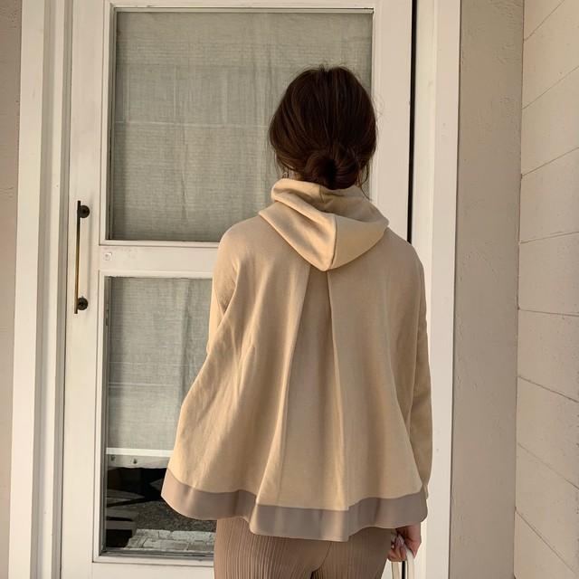 【予約】flare hoodie  latte (9月下旬配送)