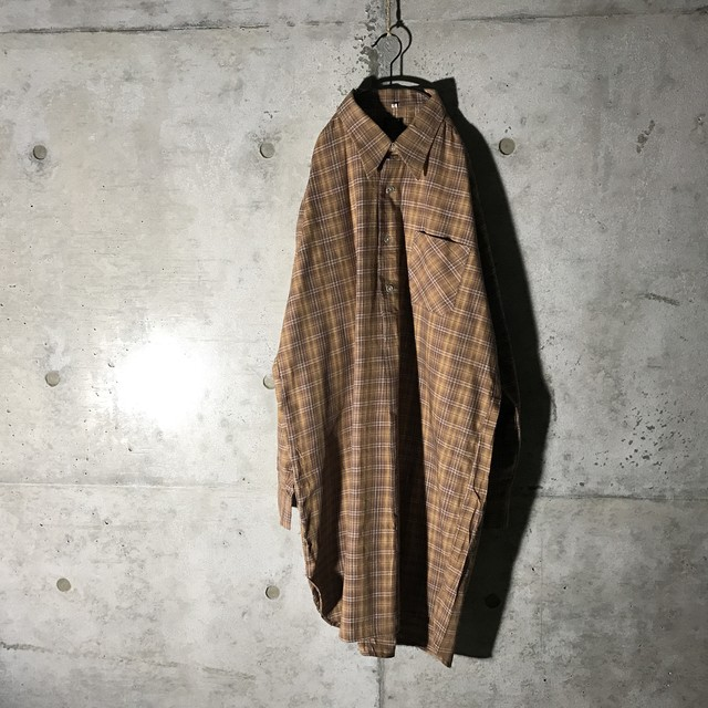 [used] autumn colour checked long shirt
