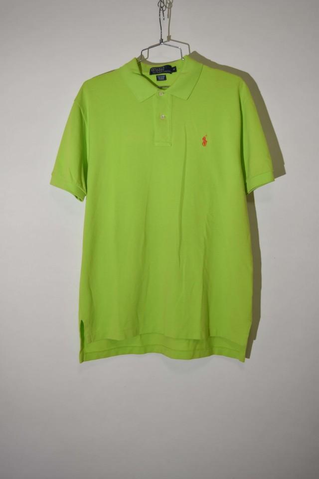 【Mサイズ】 POLO RALPH LAUREN ポロ・ラルフローレン ONE POINT POLO ポシャツ YGRN グリーン 400603190506