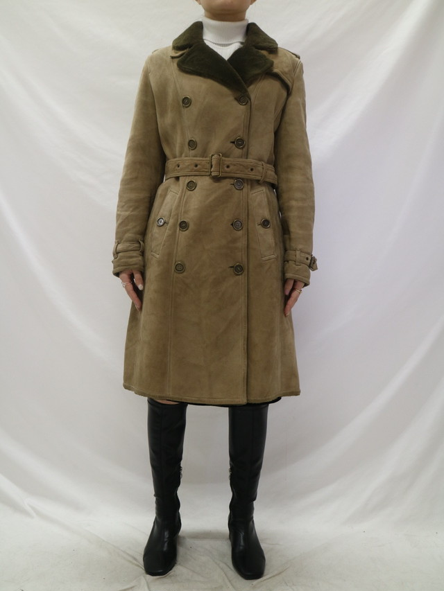 Burberry mouton coat 【0639】