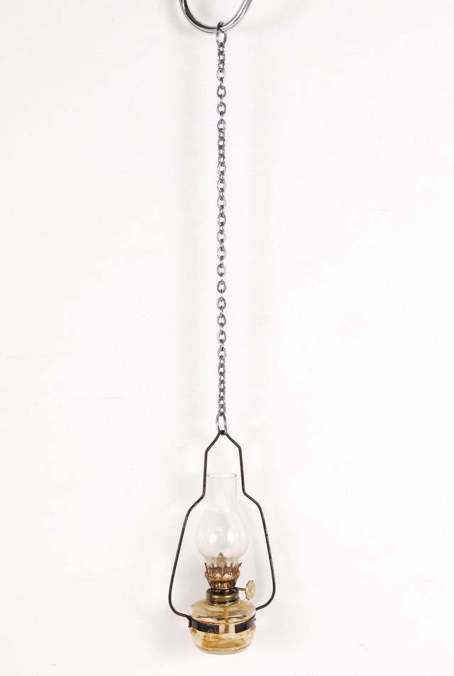 0882 アンティーク オイルランタン 吊り下げ オイルランプ アイアン インテリア 14.8cm