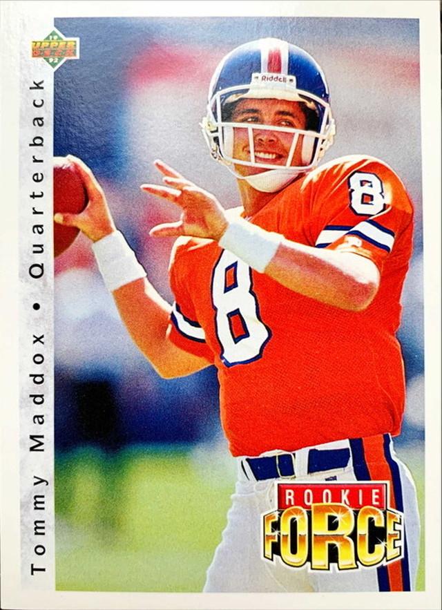 NFLカード 92UPPERDECK TOMMY MADDOX #416 BRONCOS ROOKIEカード
