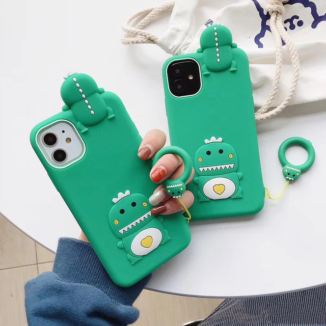 3D dinosaur iphone case