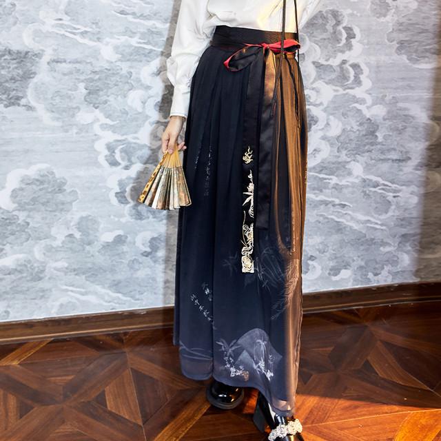 【十三余シリーズ】★チャイナ風ズボン★ ボトムス 中華服 プリント 着痩せ 個性的 オリジナル 美品