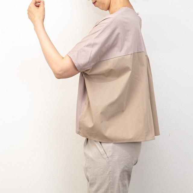 【SONO/ソーノ】ハイブリッドワイドTシャツ(ベージュ)