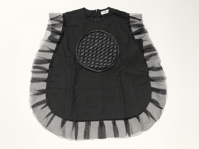 【20SS】フランキーグロウ ( frankygrow ) QUILTING DOT FRILL DRESS[ S / M / L ]ワンピース