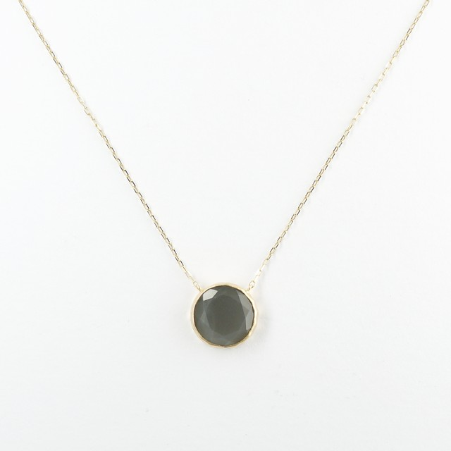 Marbles gray moonstone necklace