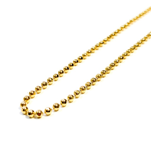 SPARKING Cutting Ball Chain Necklace GOLD