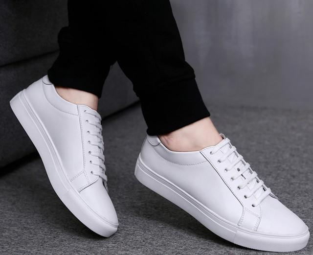 スニーカー レザー 革 ウォーキングシューズ メンズ カジュアルシューズ 革靴 軽量shs-533