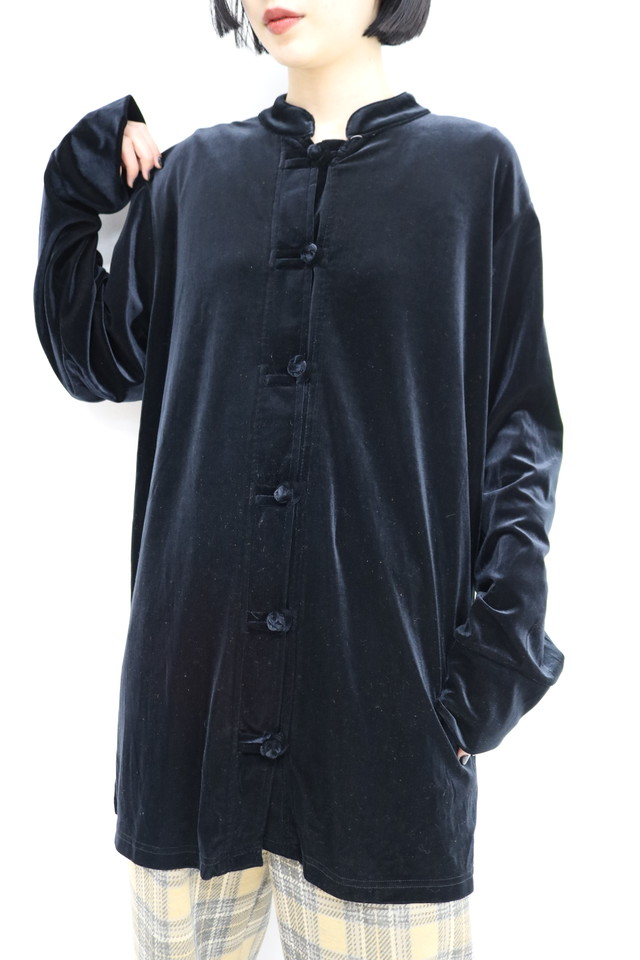 china velor long shirt / BL11110011