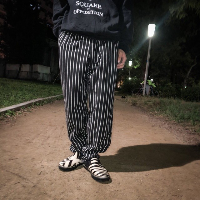 90's  stripe easy pants