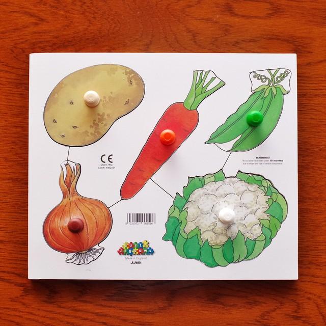ノブつきパズル 野菜