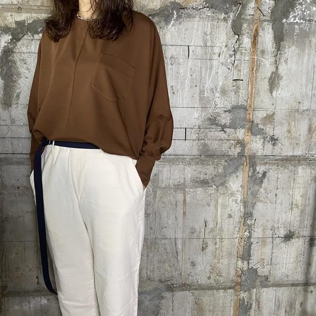 Dessin de Mode【デッサン ド モード】ドルマンTシャツ (12DPO-134M210 CAMEL BROWN /SIZE:F)