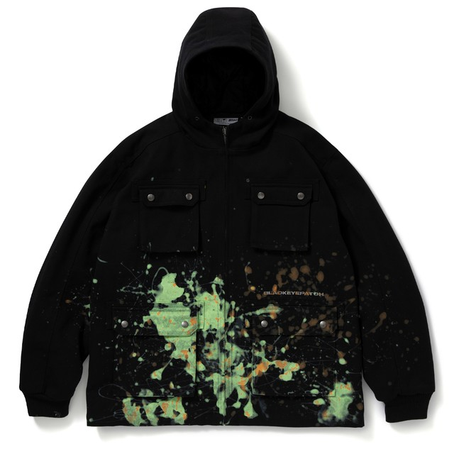 BLACK EYE PATCH / HOODED PAINTER JACKET