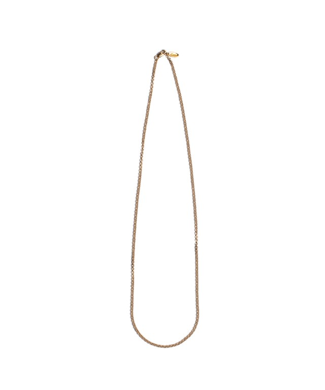 14KGF ROUND DOME CHAIN NECKLACE 70cm[REA056]