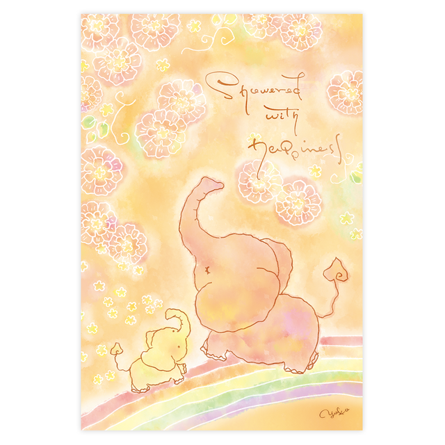ポストカード『 幸せが降りそそぎますように 』 ~ 庸子(yoko)  ~