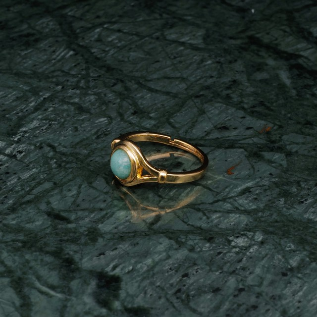 SINGLE MINI STONE DECO RING GOLD 006