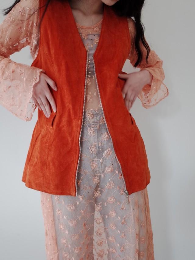 used leather vest
