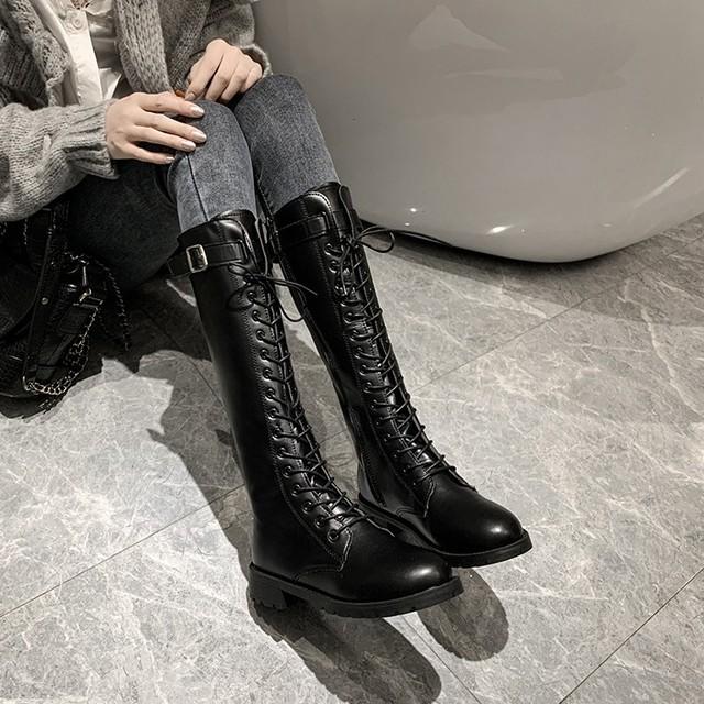 【shoes】絶妙なデザインボウタイロングブーツ25298820