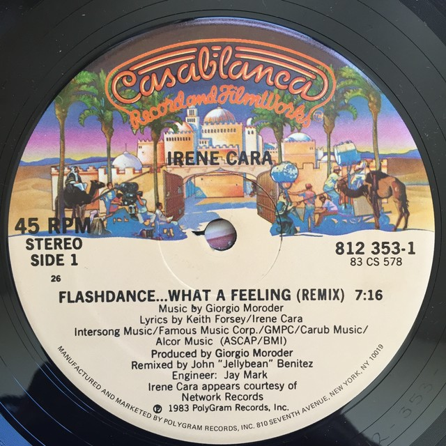 Irene Cara ‎– Flashdance ... What A Feeling(remix)