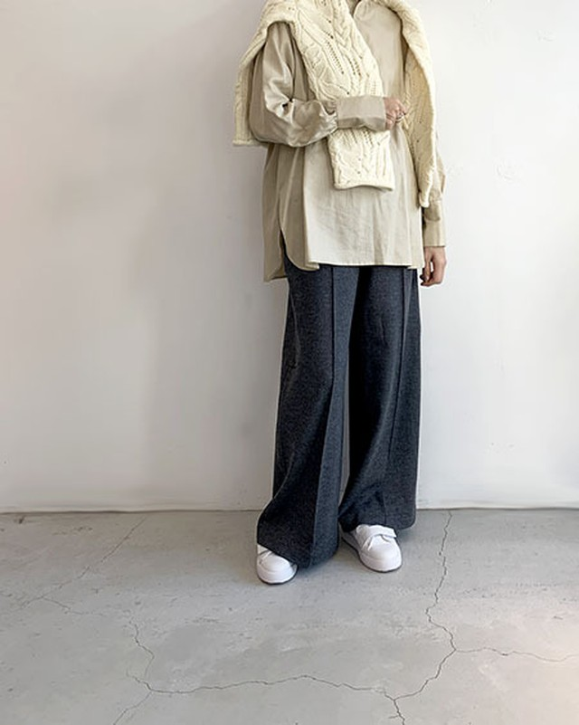Wool Easy Wide Pants / near.nippon