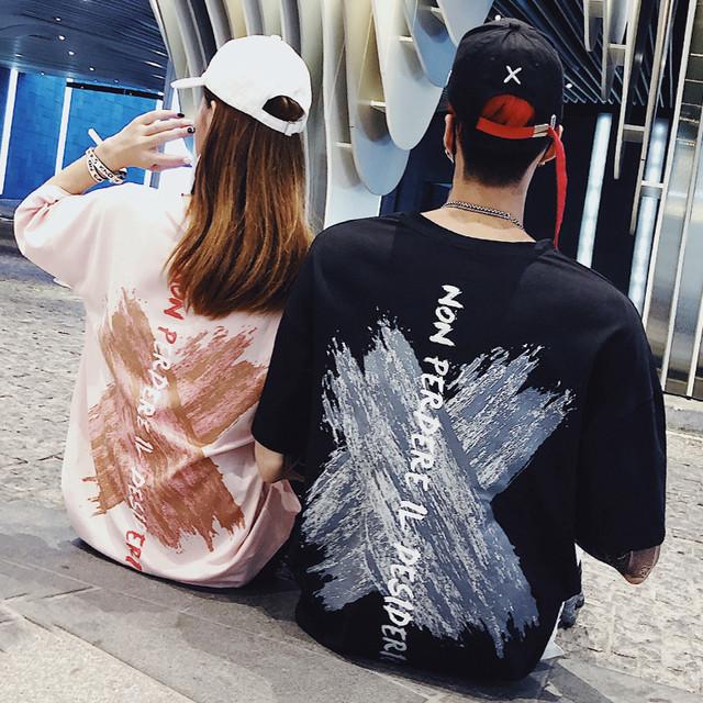 【トップス】ファッション半袖ラウンドネックプルオーバーTシャツ26929219