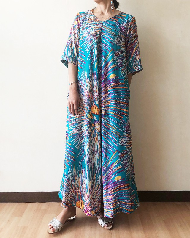 Colorful print Jump suit / IW-036