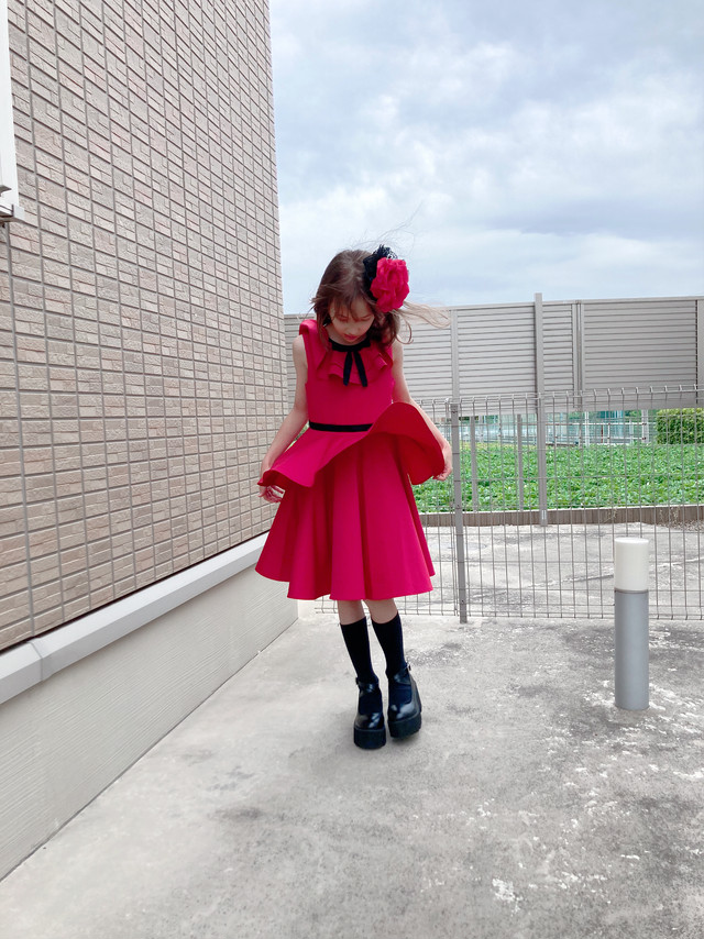 《star child collection》rose red dress(10歳~12歳・140~150サイズ)