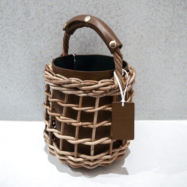[ 20SS Collection ]  Reversible mode Basket  #Brown×Green