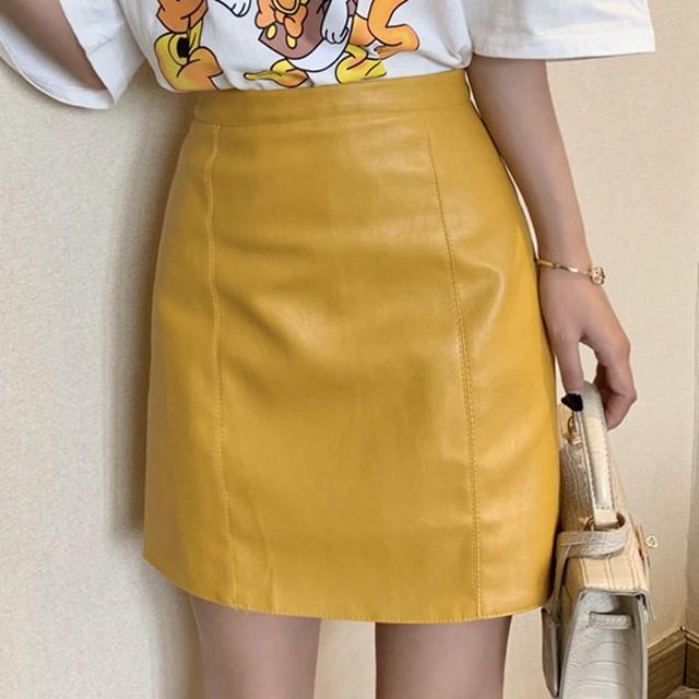 【bottoms】ファッション無地シンプルスウィート着やせ気質Aラインショート丈スカート