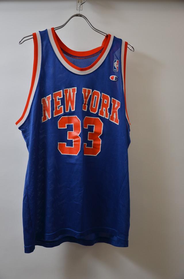 CHAMPION チャンピオン NEWYORK KNICKS PATRICK EWING BASKETBALL JERSEY タンクトップ BLUE ブルー 400608190645