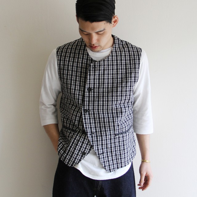 STAMMBAUM【 mens 】fishing vest (black watch)