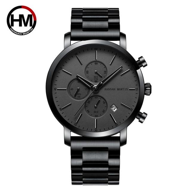 メンズウォッチトップブランドファッション多機能スモールダイヤルステンレススチールメッシュビジネス防水腕時計109HH