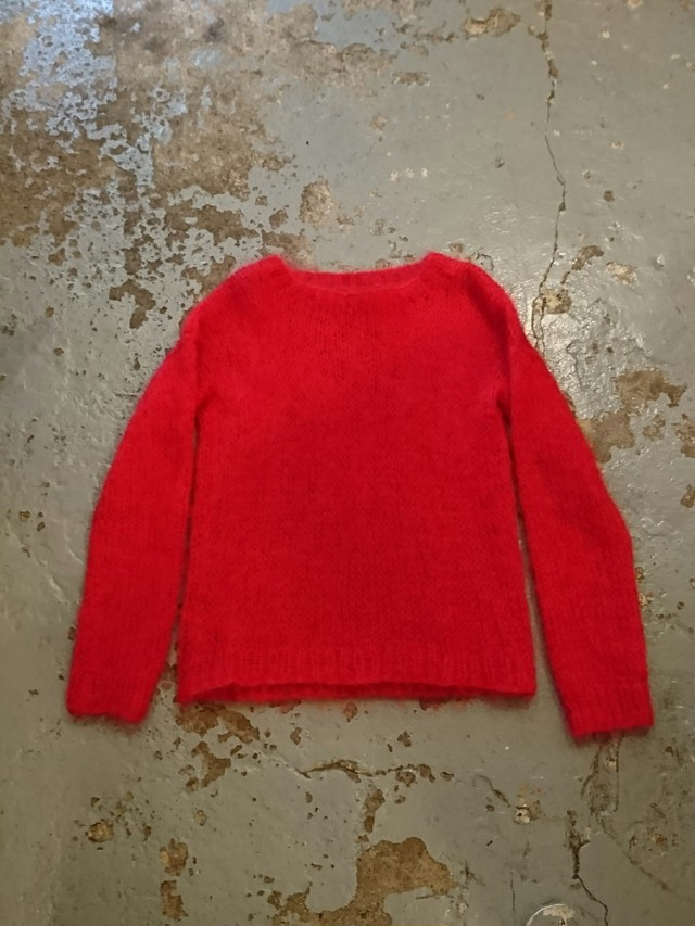 HAND KITTING MOHAIR SWEATER
