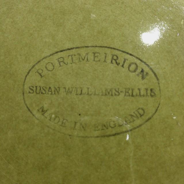 Portmerion ポートメリオン Totem トーテム カップ&ソーサー オリーブ グリーン イギリス ヴィンテージ
