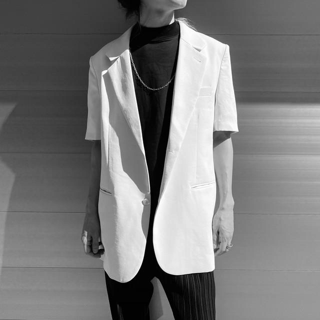 【UNISEX - 1 size】SHORTSLEEVE JACKET / White