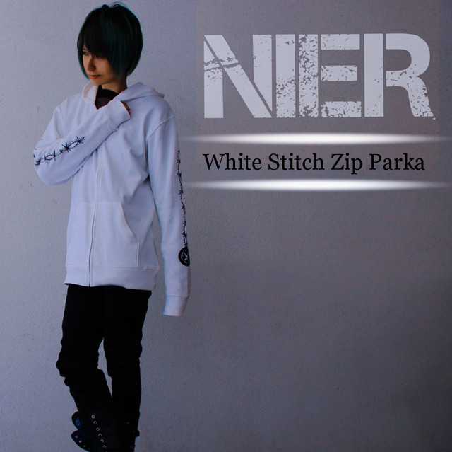 (White)Stitch Zip Parka【ユニセックス】XL